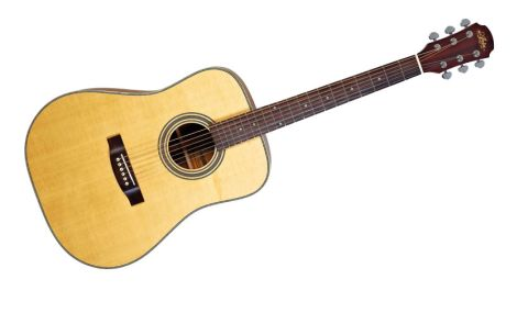 The 511 offers a Sitka spruce top and mahogany sides, although a rosewood option is also available for a supplemental price