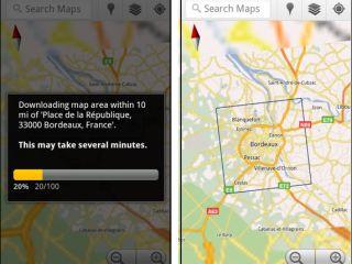 Google Maps - offline access