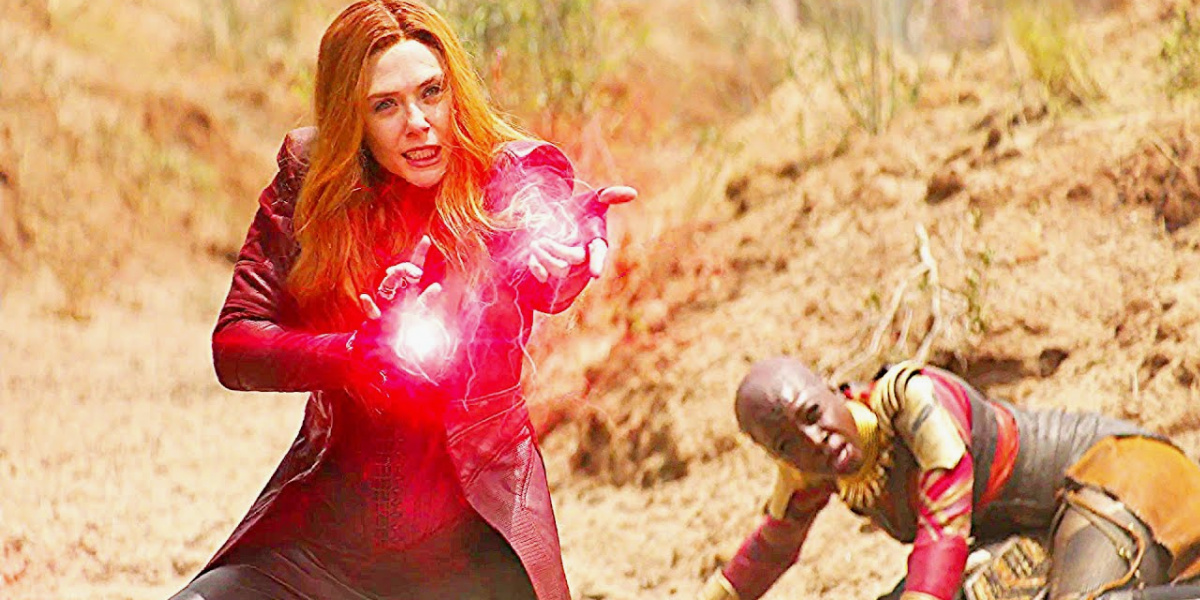 Wanda in the fight against Proxima in Avengers: Infinity War.