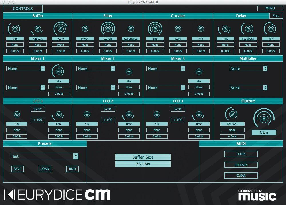 eurydice cm free vst au semimodular multieffect plugin musicradar. Black Bedroom Furniture Sets. Home Design Ideas