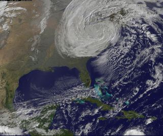 Post-tropical cyclone Sandy Oct. 30