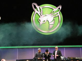 Sir Howard and Seth Rogan on stage for CES 2011