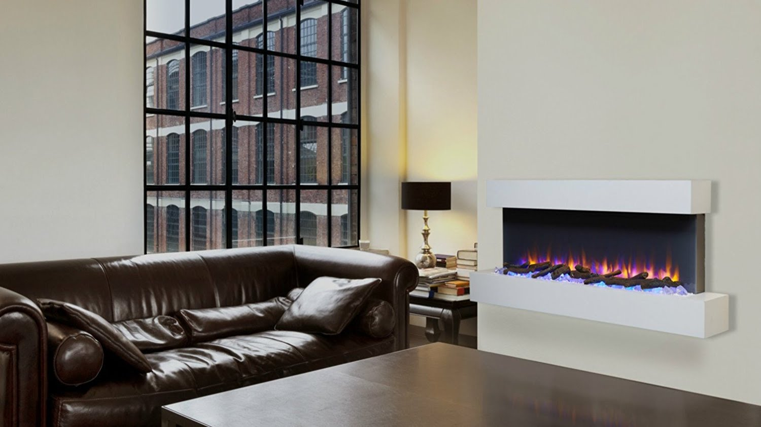 The Best Electric Fires Wall Mounted And Freestanding Real Homes