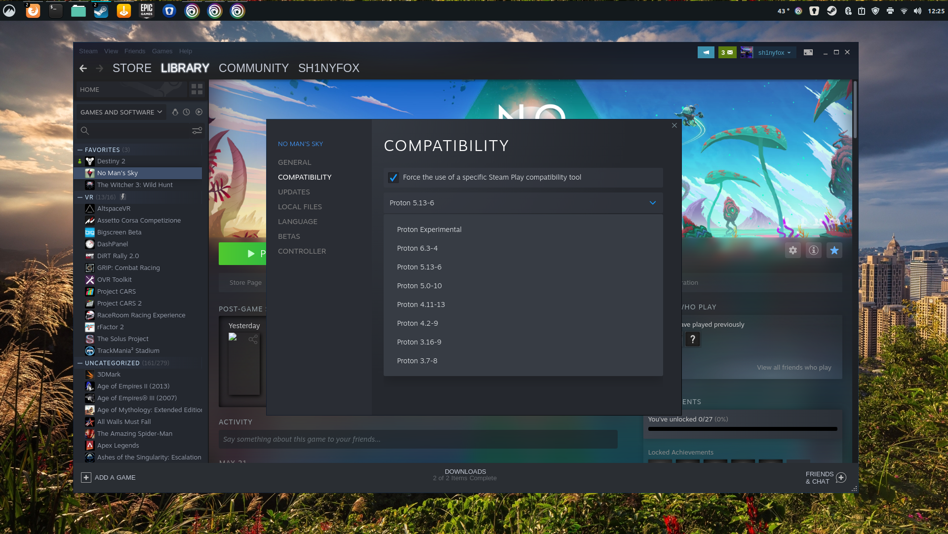 Proton on Steam for Linux