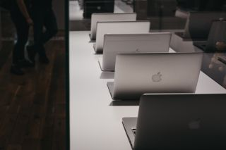 Stock image of Apple Macbooks