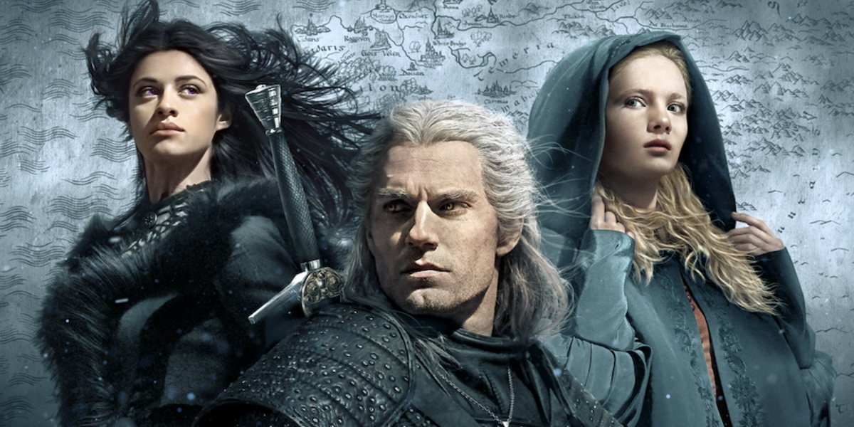 the witcher poster yennefer geralt ciri netflix