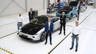 Lightyear One EV car and team in a factory
