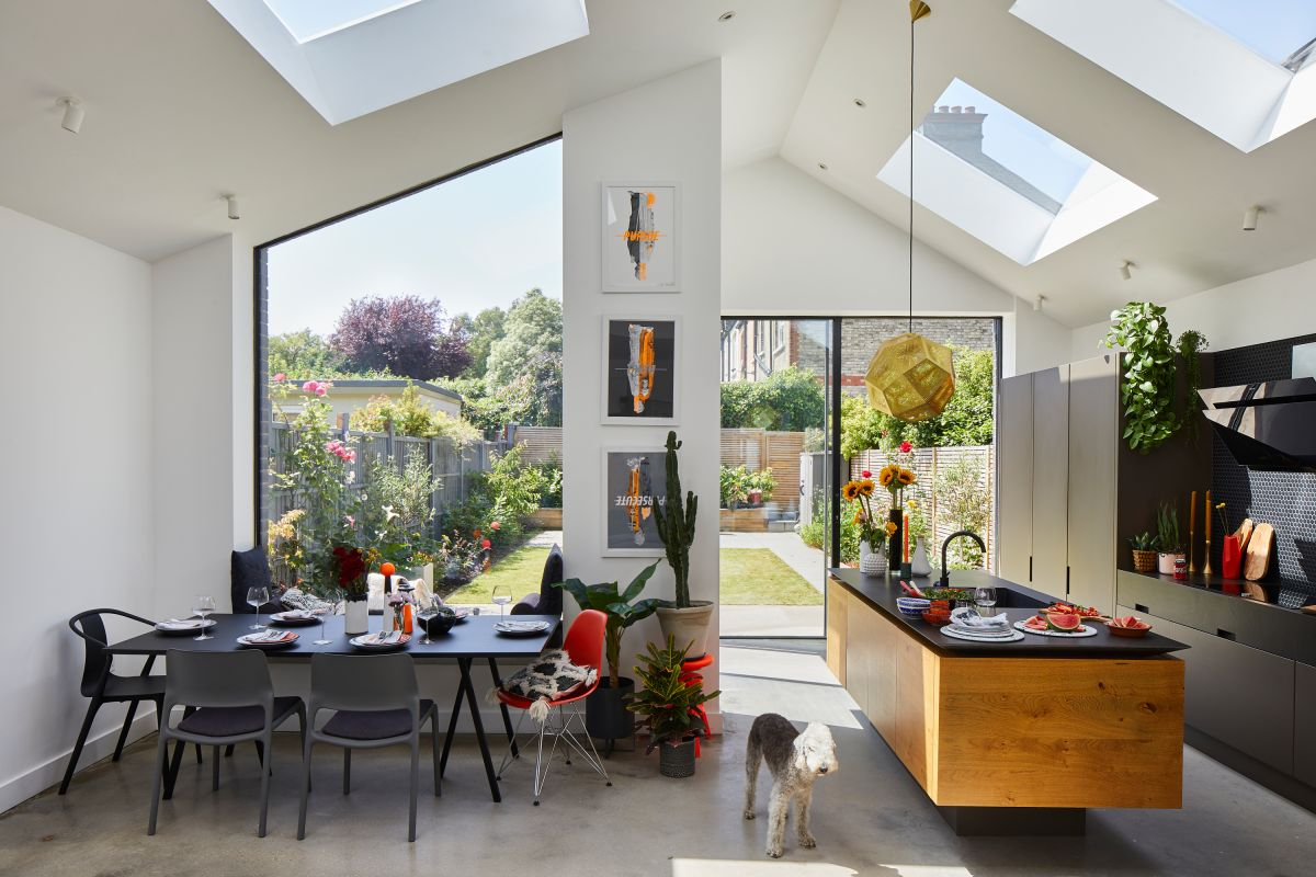 Real home: a modern kitchen extension with a bold minimalist style