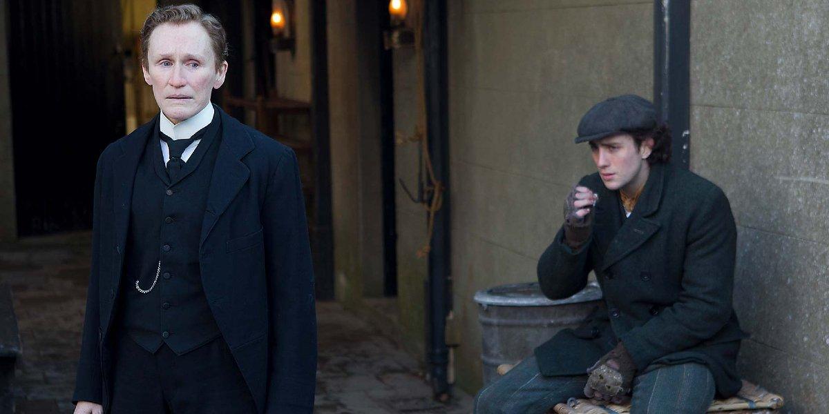 Glenn Close and Aaron Taylor-Johnson in Albert Nobbs