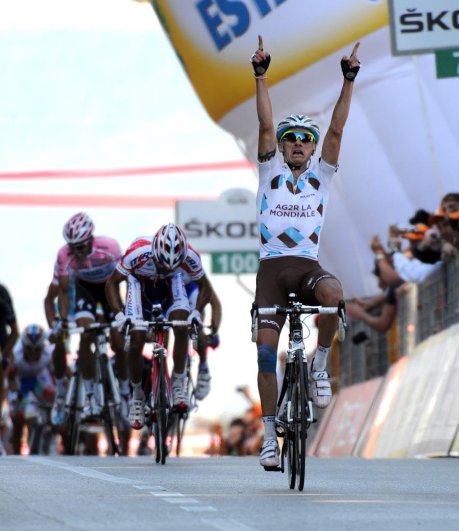 John Gadret wins, Giro d
