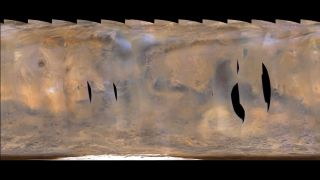 Two enormous dust storms appeared on Mars between Feb. 18 and March 6, 2017.