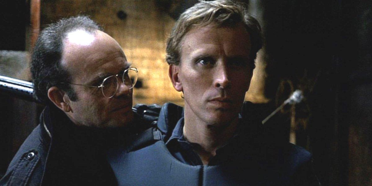 Kurtwood Smith and Peter Weller in RoboCop