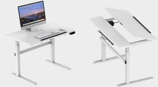 Get off your butt and buy this motorized standing desk for $260