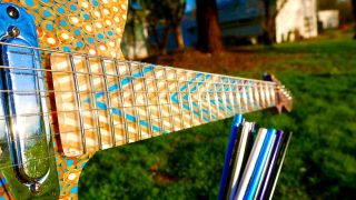 Burls Art built a guitar neck out of pencils