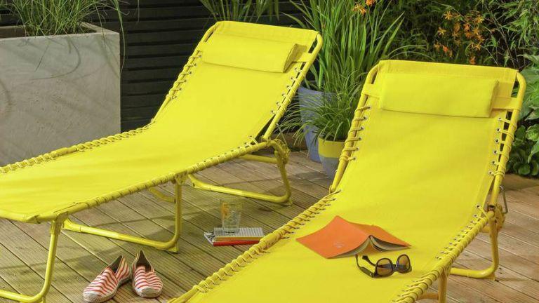 Argos sun lounger garden furniture