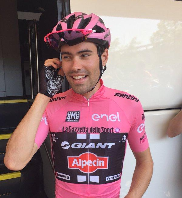 Tom Dumoulin (Giant-Alpecin) in pink