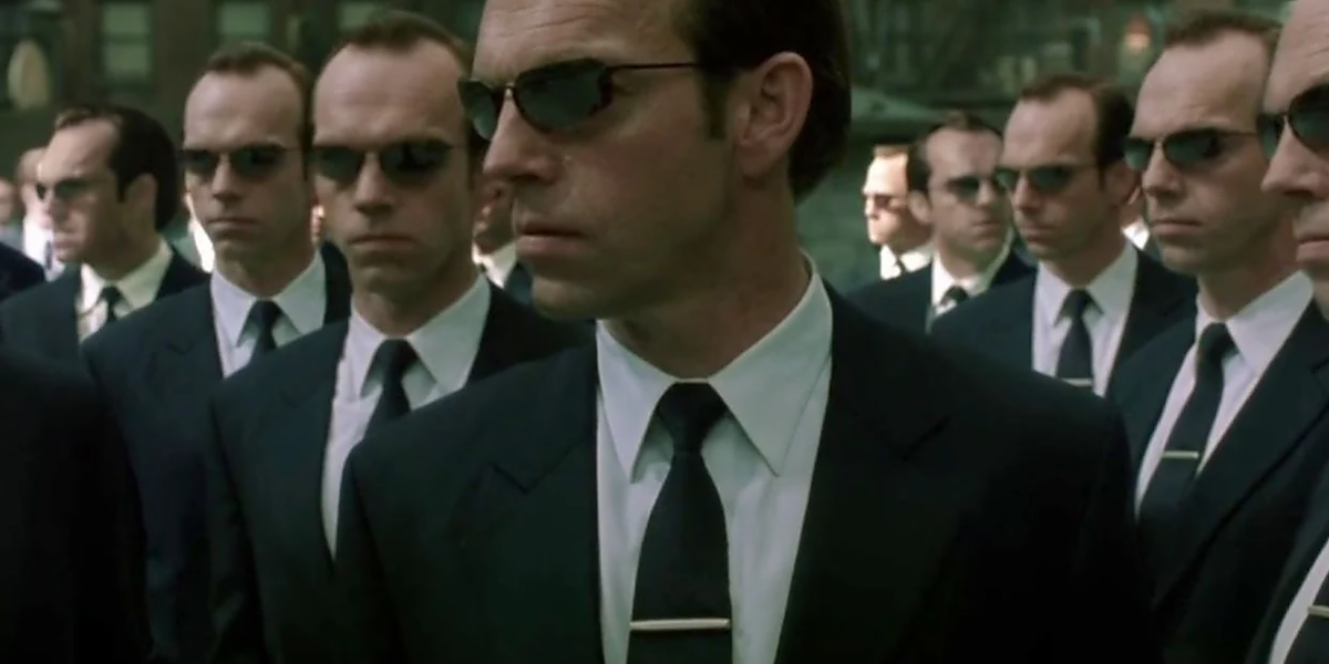 Hugo Weaving as Agent Smith in Matrix