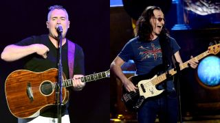 Ed Robertson of Barenaked Ladies and Geddy Lee of Rush