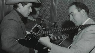 Cyril Davies (right) and Ramblin' Jack Elliott at The Roundhouse, London in 1958