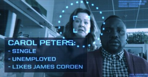 Melissa McCarthy and Brian Tyree Henry in ' Superintelligence.'