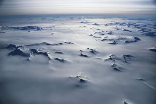 the Antarctic Peninsula seen from NASA's Operation IceBridge research aircraft.