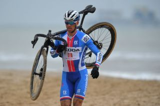 OOSTENDE BELGIUM JANUARY 31 Zdenek Stybar of Czech Republic Sea Sand Beach during the 72nd UCI CycloCross World Championships Oostende 2021 Men Elite UCICX CXWorldCup Ostend2021 CX on January 31 2021 in Oostende Belgium Photo by Luc ClaessenGetty Images