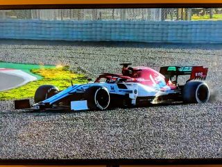 F1 Race car on TV
