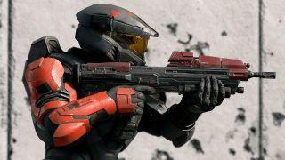 Spartan in combat in Halo Infinite