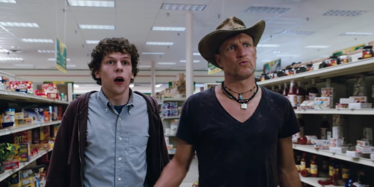 Jesse Eisenberg and Woody Harrelson in Zombieland