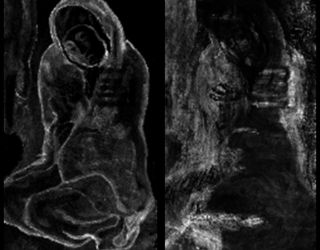 "Scientists used X-ray fluorescence to look at the different elements in the paint layers of Picasso's ""La Miséreuse accroupie."""