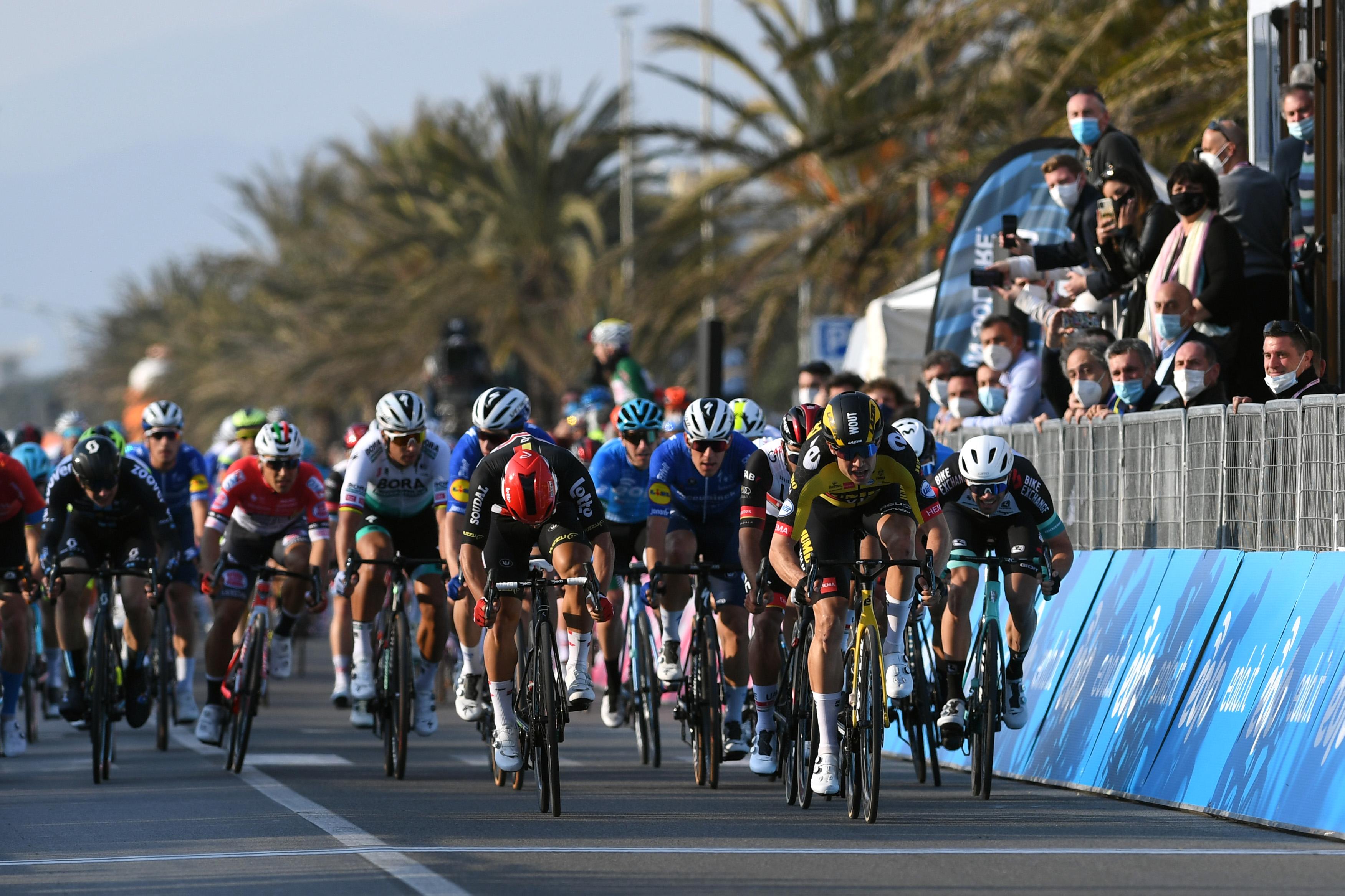 Wout van Aert wins stage 1 of the 2021 Tirreno-Adriatico.