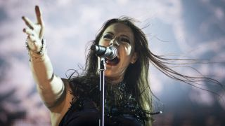 Nightwish's Floor Jansen at Rock in Rio on September 25, 2015