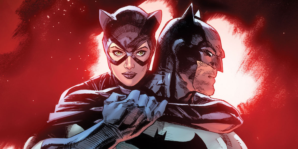 Catwoman with Batman in the comics