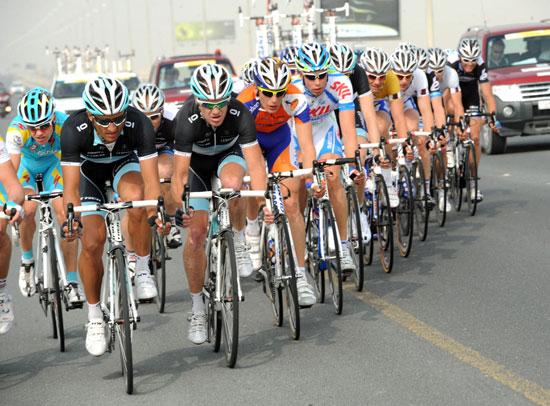 Daneiel Bennati escape, Tour of Qatar 2011, stage three