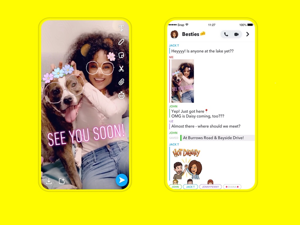 best chat apps: Snapchat