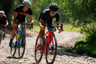 Sarah Sturm races in the 2019 Steamboat Gravel cycling race held near Steamboat Springs, Colorado. Sarah placed 3rd in the event.