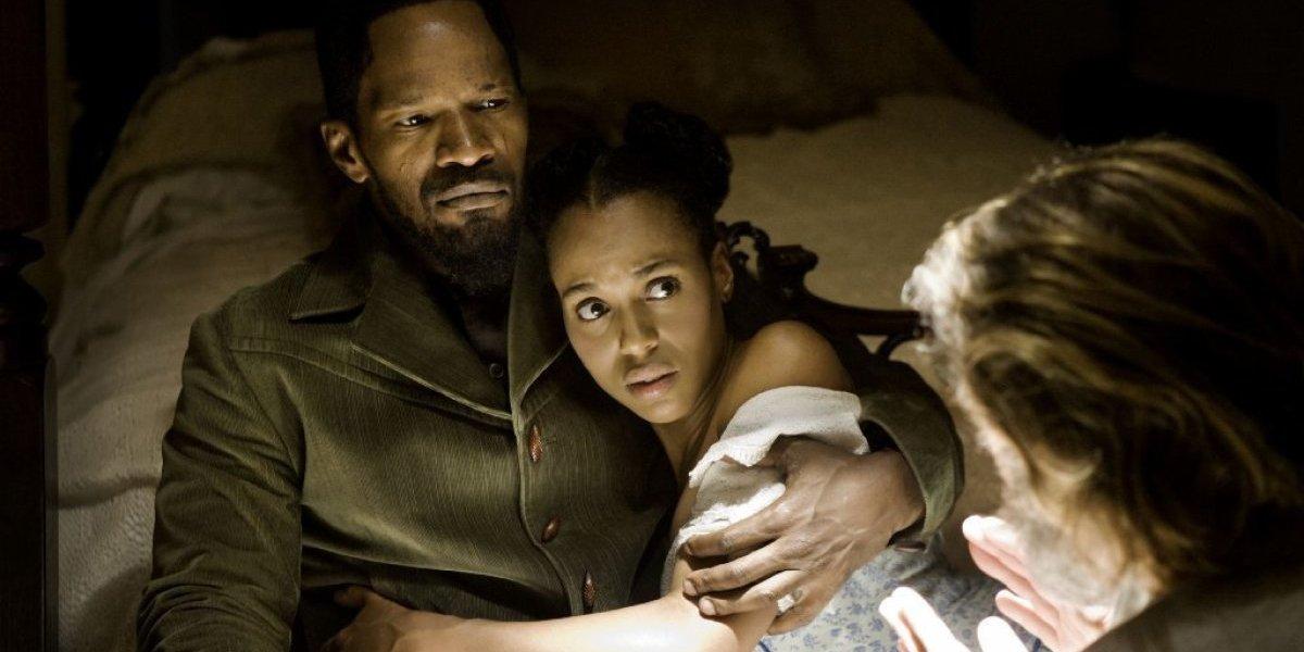 Jamie Foxx and Kerry Washington in Django Unchained