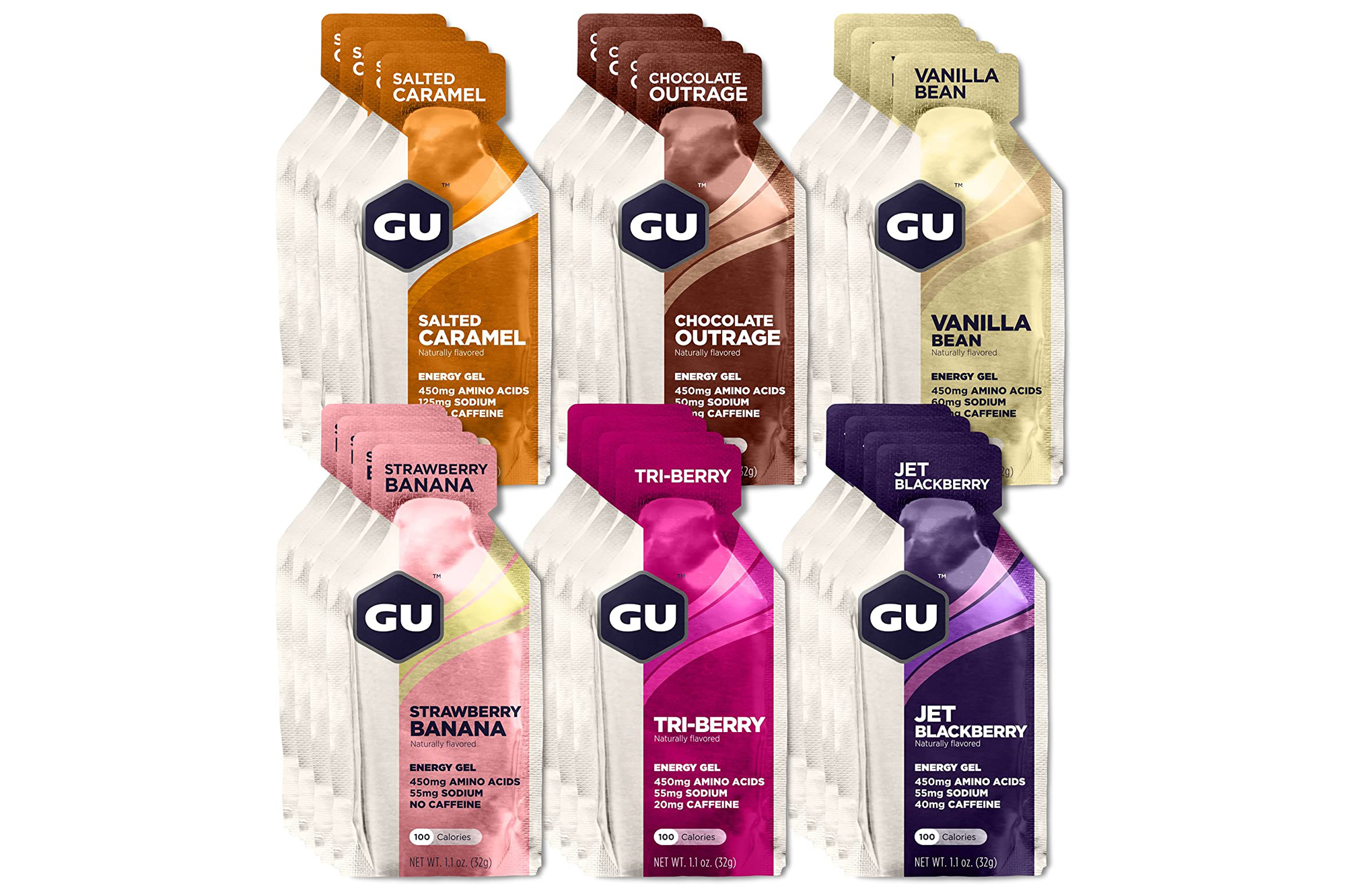 Gu Energy Gels Assorted Flavors