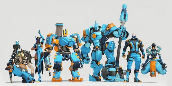 The Overwatch crew in Spitfire kits.