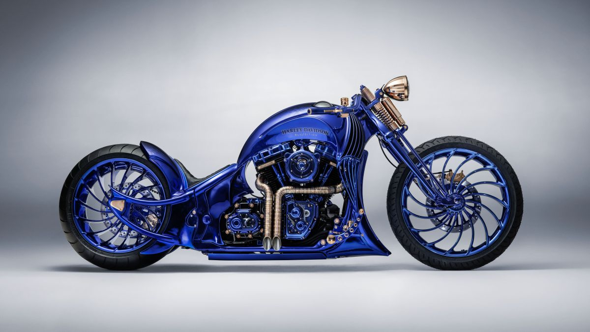 This Bucherer Harley Davidson Blue Edition is the most expensive motorcycle in the world