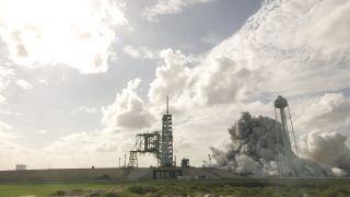 SpaceX Test-Fires Landed Falcon 9