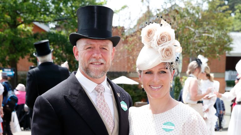 Zara Tindall and Mike Tindall look loved up at Royal Ascot