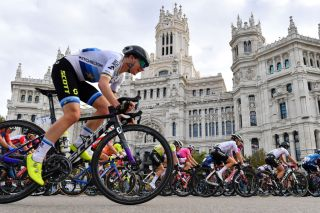 European road race champion Annemiek Van Vleuten rides in her final race for Mitchelton-Scott on stage 3 of the 2020 Madrid Challenge by La Vuelta
