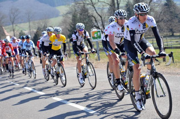 Danny Pate at the front, Paris-Nice 2011, stage four