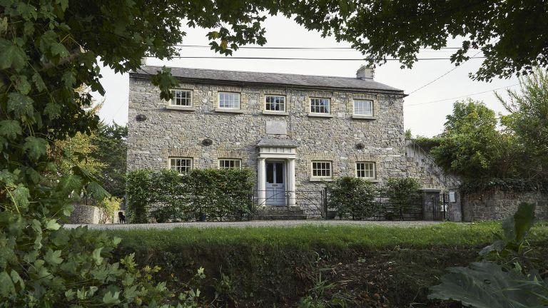 Exterior of canalside home