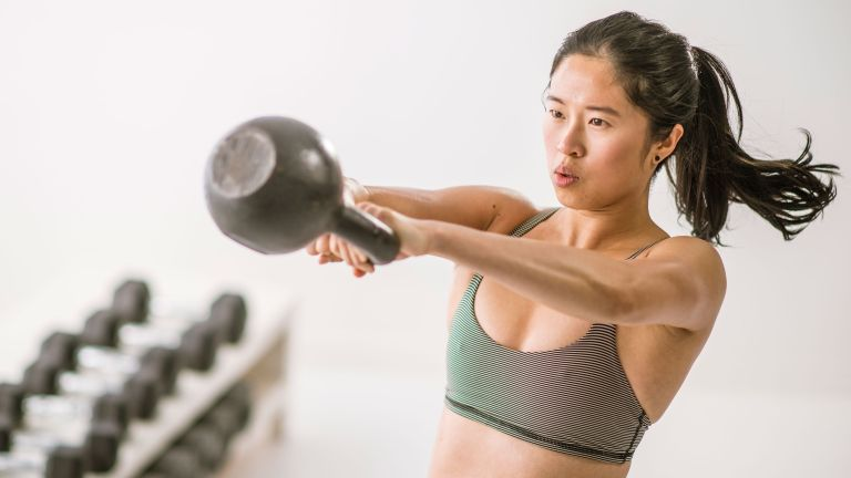 Kettlebell swings are some of the best exercises to burn fat