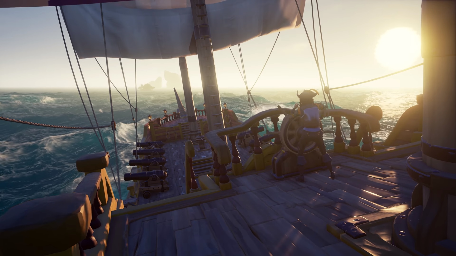 Sea of Thieves stream shows off combat, pillaging, cannon-fired transport