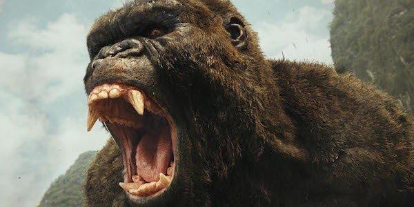 King Kong roaring in Kong: Skull Island