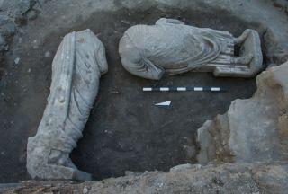 Headless Roman statues