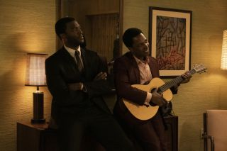 Aldis Hodge and Leslie Odom Jr. play Jim Brown and Sam Cooke in 'One Night in Miami,' Regina King's adaptation of the play by Kemp Powers.